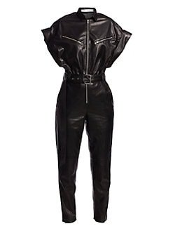IRO Moreno leather jumpsuit