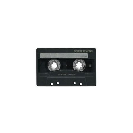 cassette black png filler music aesthetic