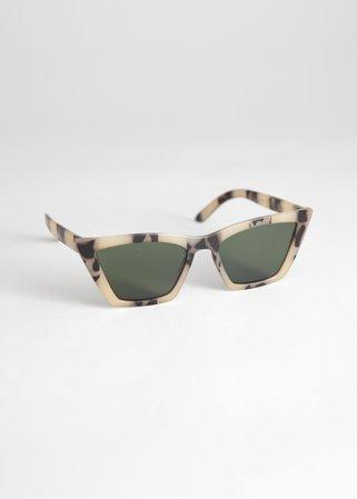 Angular Cat Eye Sunglasses - Tortoise - Cat-eye - & Other Stories US