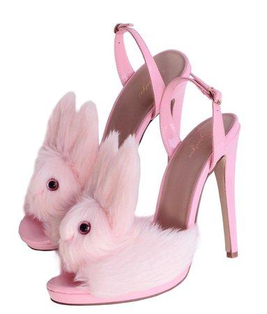 pink bunny heels
