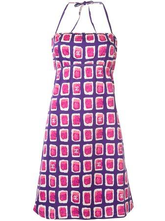 Chanel Pre-Owned Tile Print Dress Vintage   Farfetch.com