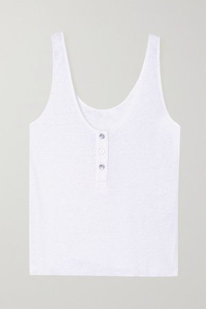 Shadow Ribbed Jersey Tank - White