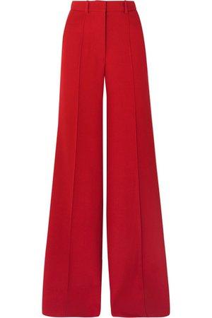 Victoria Beckham   Wool wide-leg pants   NET-A-PORTER.COM