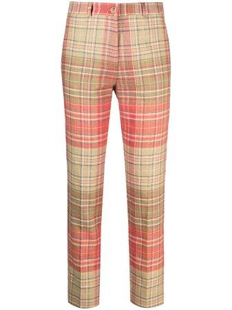 Etro check-print Trousers - Farfetch