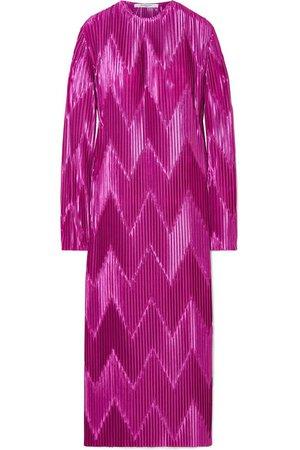 Givenchy   Robe midi en satin plissé   NET-A-PORTER.COM