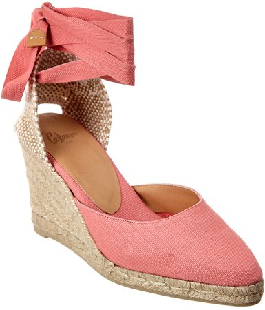 CastaEr Joyce Ankle Wrap Canvas Wedge Espadrille