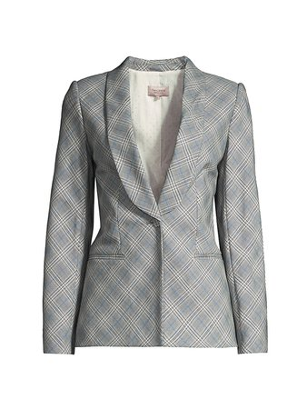 Rebecca Taylor Double-Breasted Plaid Suiting Jacket   SaksFifthAvenue