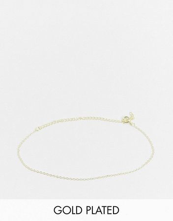 Kingsley Ryan chain bracelet in sterling silver gold plate | ASOS