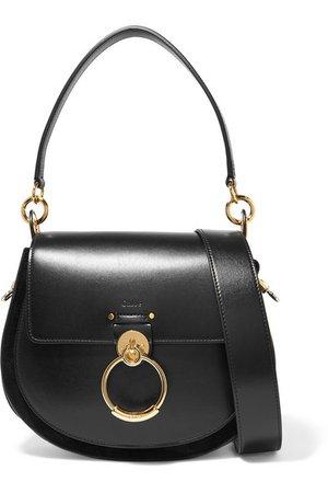 Chloé | Tess leather and suede shoulder bag | NET-A-PORTER.COM