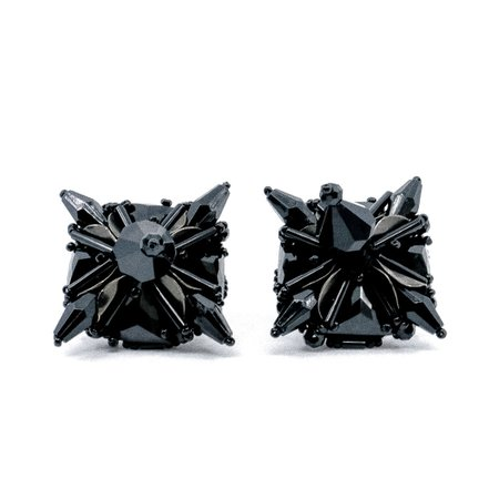 Prada Black Star Clip-on Earrings — Danilova: Fashion, costume and vintage jewellery curator
