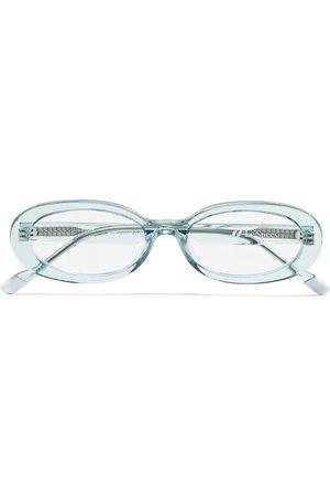 Le Specs | Outskirt oval-frame acetate glasses | NET-A-PORTER.COM