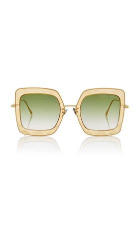 Oversized Square Sunglasses by Bottega Veneta Sunglasses | Moda Operandi