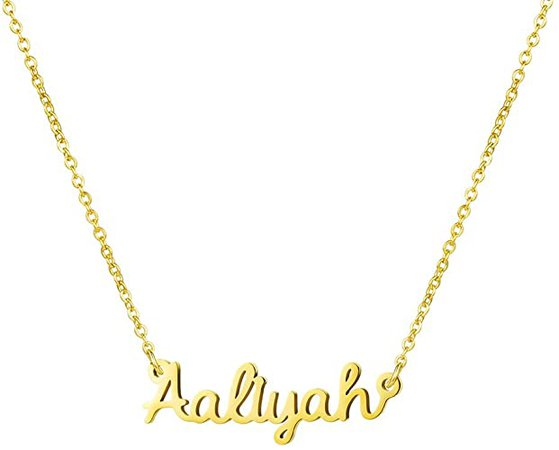 willow plated name gold necklace - Google Search