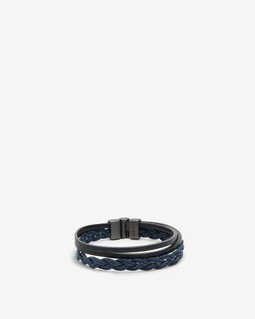 Multi Row Leather Bracelet | Express