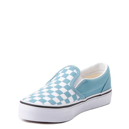 Vans Slip On Checkerboard Skate Shoe - Big Kid - Delphinium | Journeys