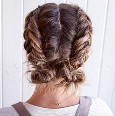 Short French Braid Pigtails