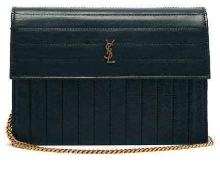 Victoire Mini Quilted Leather Cross Body Bag - Womens - Dark Green