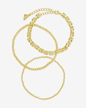 Sterling Forever Braided & Woven Bracelet Set | Express