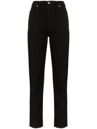 Eckhaus Latta High Waist Straight-Leg Jeans 332ELAW19ABALMOSTBLACK Black   Farfetch