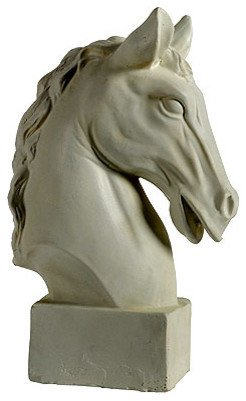 "Horse Head Statue 10.5""x6""x16"" - Contemporary - Decorative Objects And Figurines - by Fantastic Decor LLC"