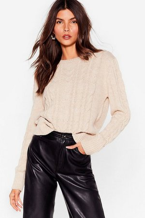 Knits End Cable Knit Sweater | Nasty Gal