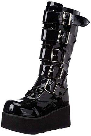 Amazon.com | Demonia by Pleaser Men's Trashville-518 Goth Boot, Black Patent, 6 M US | Boots