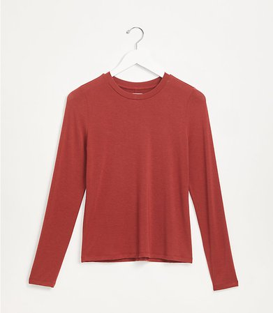 Lou & Grey Softened Jersey Top | LOFT red