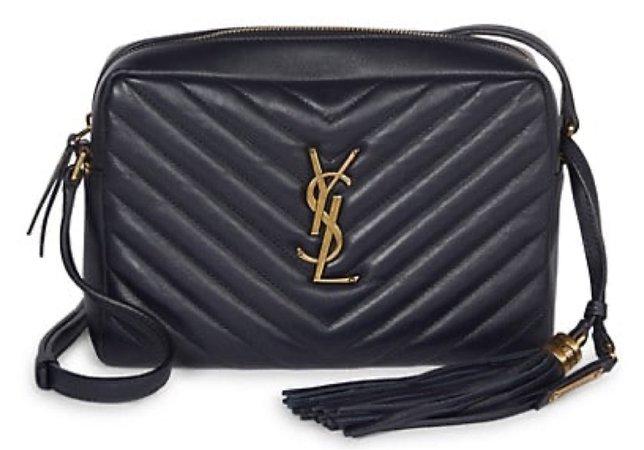 YSL Lou Camera Bag - Black