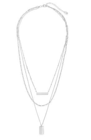 Sterling Forever Layered Bar Necklace | Nordstrom