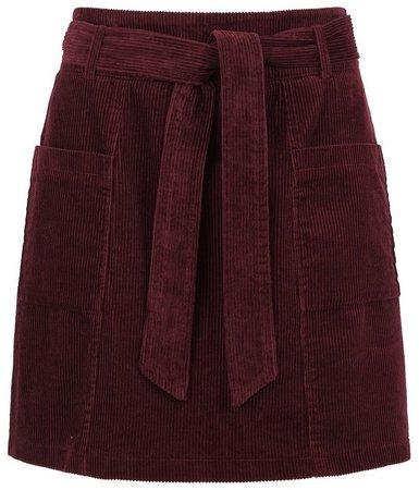 **Lola Skye Burgundy Paperbag Skirt