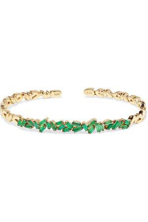 Suzanne Kalan | 18-karat gold emerald cuff | NET-A-PORTER.COM