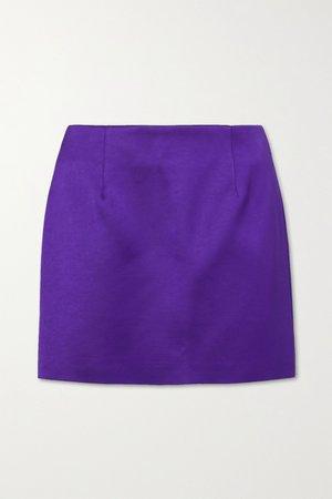 Purple Power satin mini skirt | Georgia Alice | NET-A-PORTER