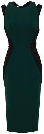 Cutout Stretch-gabardine Dress