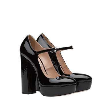 Patent leather Mary Jane platform pumps | MiuMiu