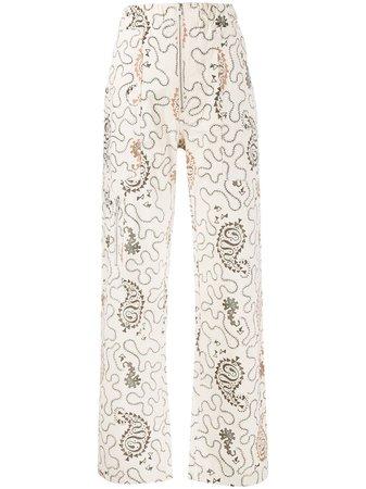 Isabel Marant Étoile paisley-print high-waist Trousers - Farfetch