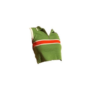 Green Shirt Red Stripe Top PNG