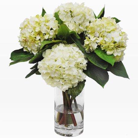 Faux Hydrangea in Tall Vase – White | west elm