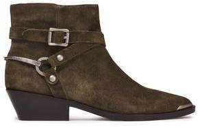 Jade Buckled Leather Ankle Boots