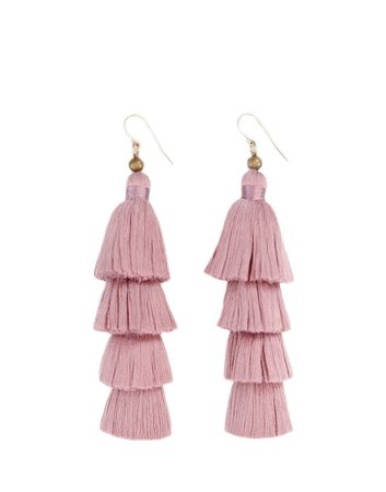 mauve jewelry tassels - Google Search