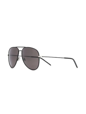 Saint Laurent Eyewear Classic 11 Aviator Sunglasses - Farfetch