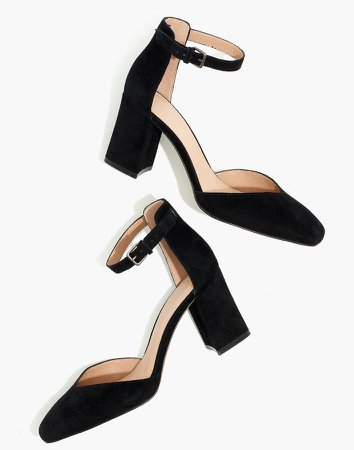The Dove High-Heel Sandal in Suede