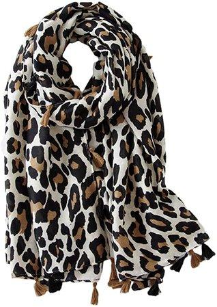 Amazon.com: FENICAL Leopard Scarf Women Animal Print Scarf Long Scarf Cotton Shawl Scarf Gift Scarf Leopard Print Scarf: Clothing