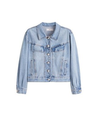 MANGO Vintage wash denim jacket