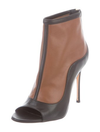 Abel Muñoz Peep-Toe Ankle Boots - Shoes - W7A20518 | The RealReal