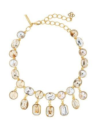 Oscar de la Renta, gem-embellished drop necklace