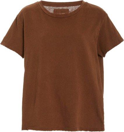NILI LOTAN Brady Slub Cotton T-Shirt