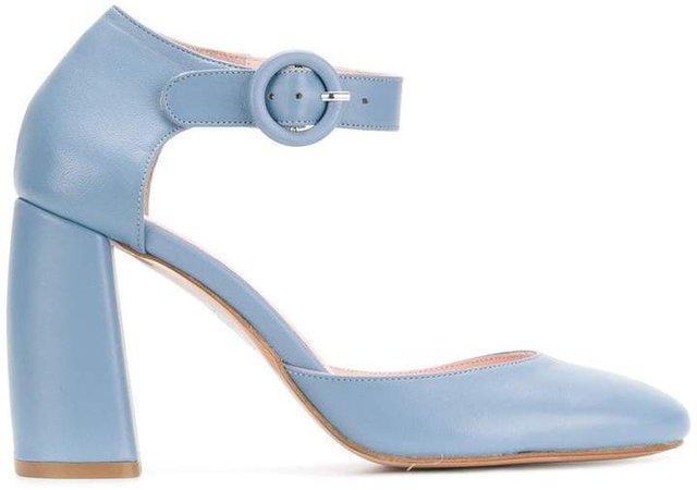 Anna F. buckled heel pumps
