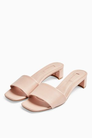 DENNIS Pink Mules | Topshop
