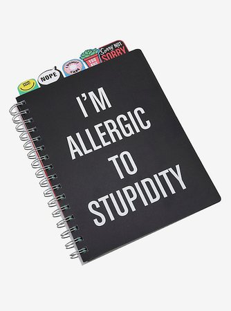I'm Allergic To Stupidity Tabbed Journal