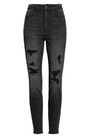 BP. Ripped High Waist Curvy Skinny Jeans | Nordstrom